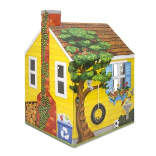 Cardboard Structure Cottage 3.25' x 2.78' Playhouse by Melissa & Doug