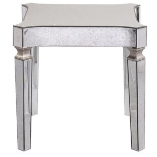 Paulsen Mirrored End Table