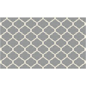 Gordon Trellis Light Gray Indoor/Outdoor Area Rug