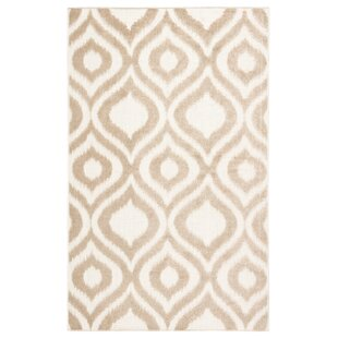 Ezzine Trellis Beige/White Indoor/Outdoor Area Rug
