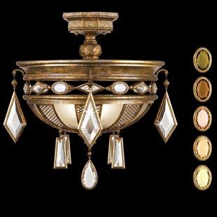 Encased Gems 3-Light Semi Flush Mount by Fine Art Lamps