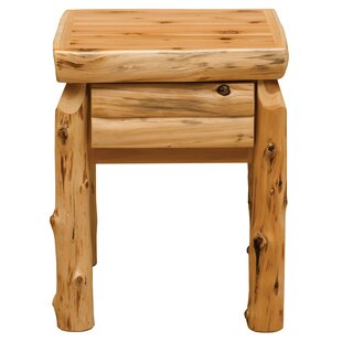 Cedar 1 Drawer Nightstand by Fireside Lodge Great Reviews