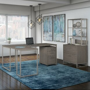 Method 3 Piece L-Shaped Desk Office Suite by Kathy Ireland Office Bush 2019 Coupon