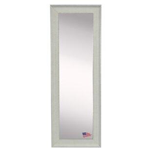 Wrought Studio Wanner Vintage White Floor/Wall Mirror