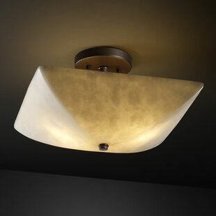 Bayern 2-Light Semi Flush Mount by Fleur De Lis Living