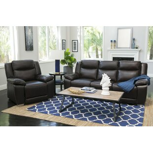 Red Barrel Studio Evansburg Reclining 2 Piece Leather Living Room Set