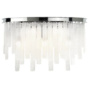 Orren Ellis Wanetta 5-Light Glass Bath Sconce