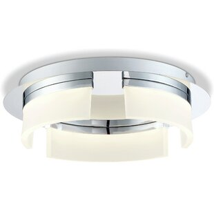 Latitude Run Broyles Opal 3-Light LED Flush Mount