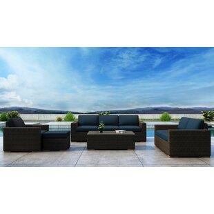 Glen Ellyn 5 Piece Sofa Set with Sunbrella Cushion by Everly Quinn