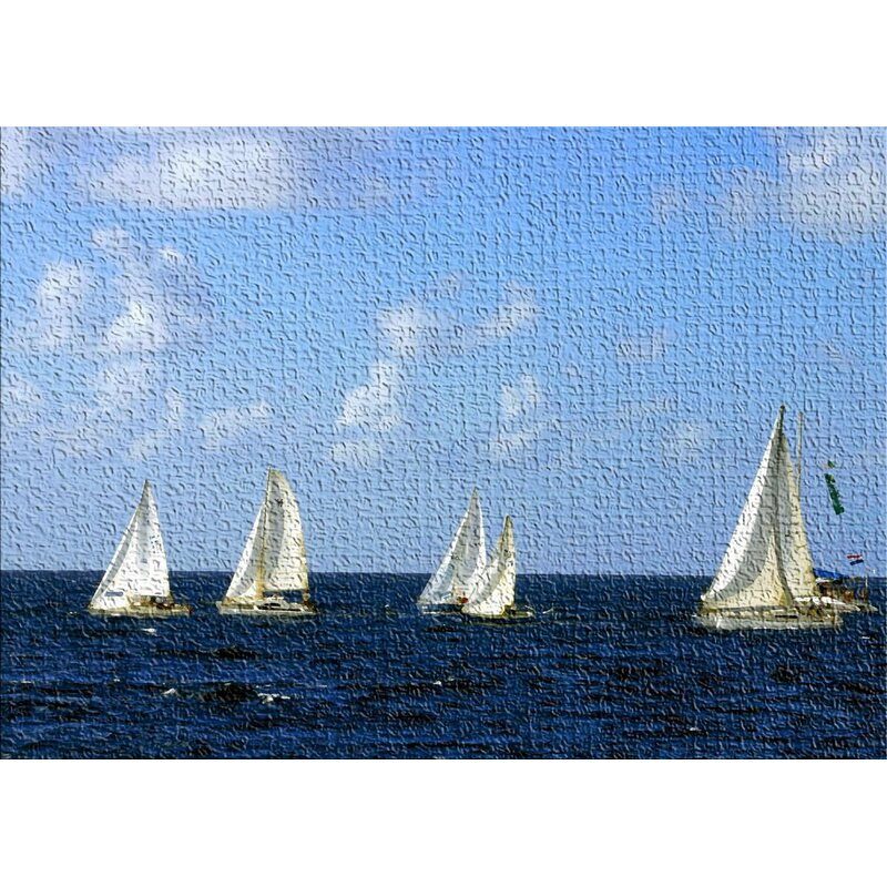 East Urban Home Sailing Boats Blue Area Rug Wayfair