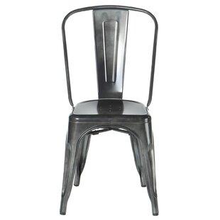 Joseph Allen Home Industrial Metal Side Chair Stackable