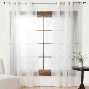 Sheer Grommet Single Curtain Panel