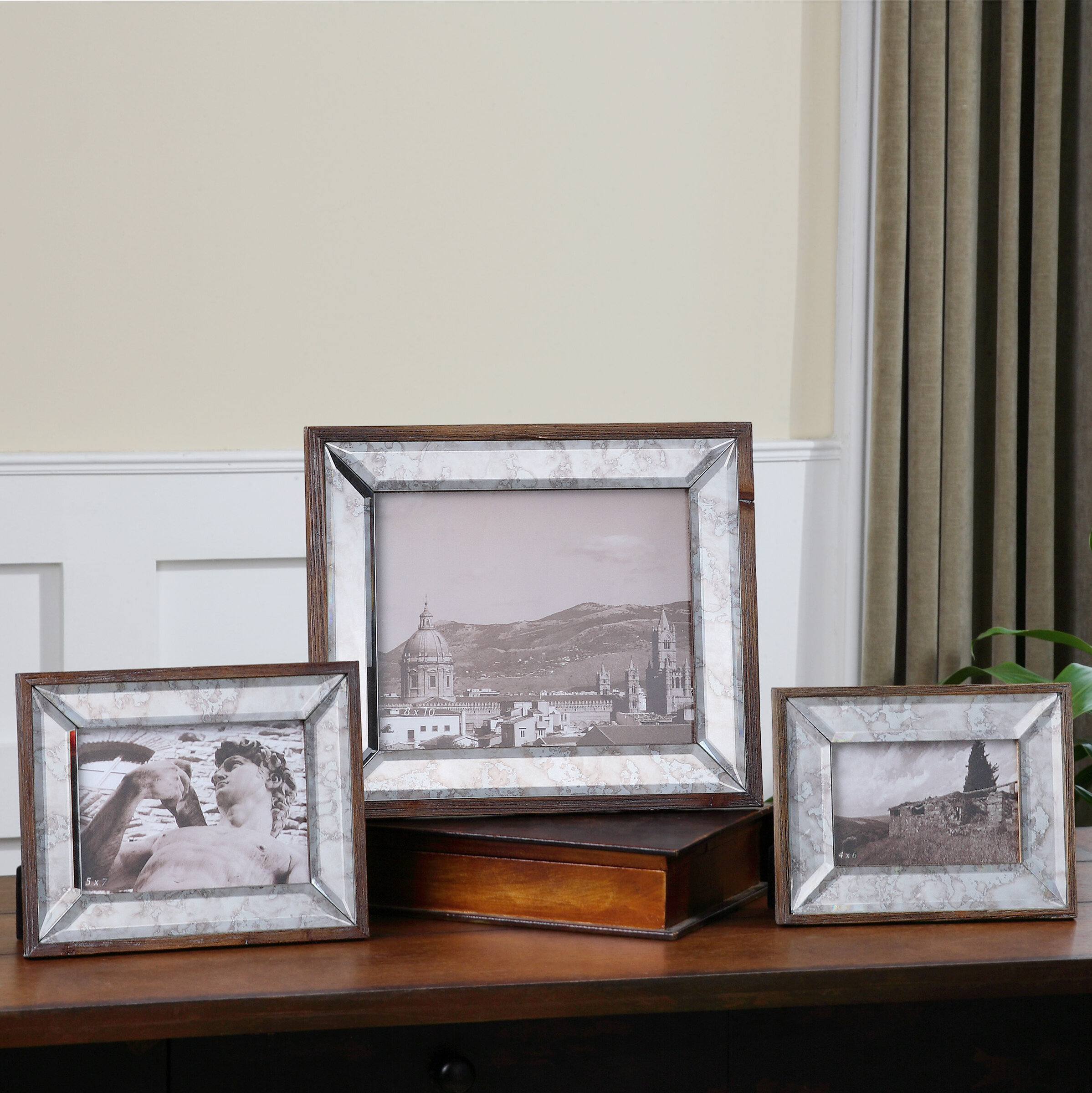 2-Pack 5 x 7 Nickel Basics Photo Picture Frame