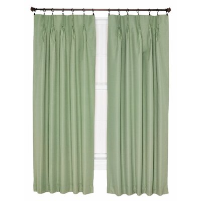 "Crosby Insulated Pinch Pleated Foamback Thermal Single Curtain Panel Ellis Curtain Curtain Color: Sage, Size per Panel: 84"" W x 144"" L"