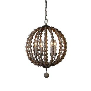 Roman 4 Light Globe Pendant