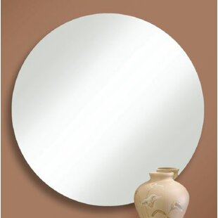 Orren Ellis Prospect Heights Polished Edge Round Wall Mirror