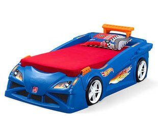 Step2 Hot Wheels™ Race Twin Car Bed