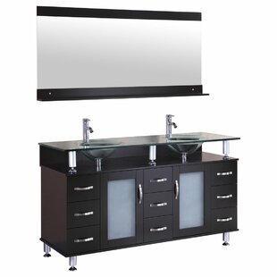 Clearance 59 Double Bathroom Vanity Set with Mirror ByLessCare