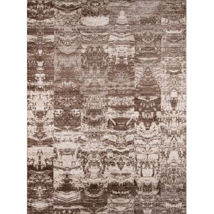 Guide to buy Victoria Brown/White Area Rug By World Menagerie