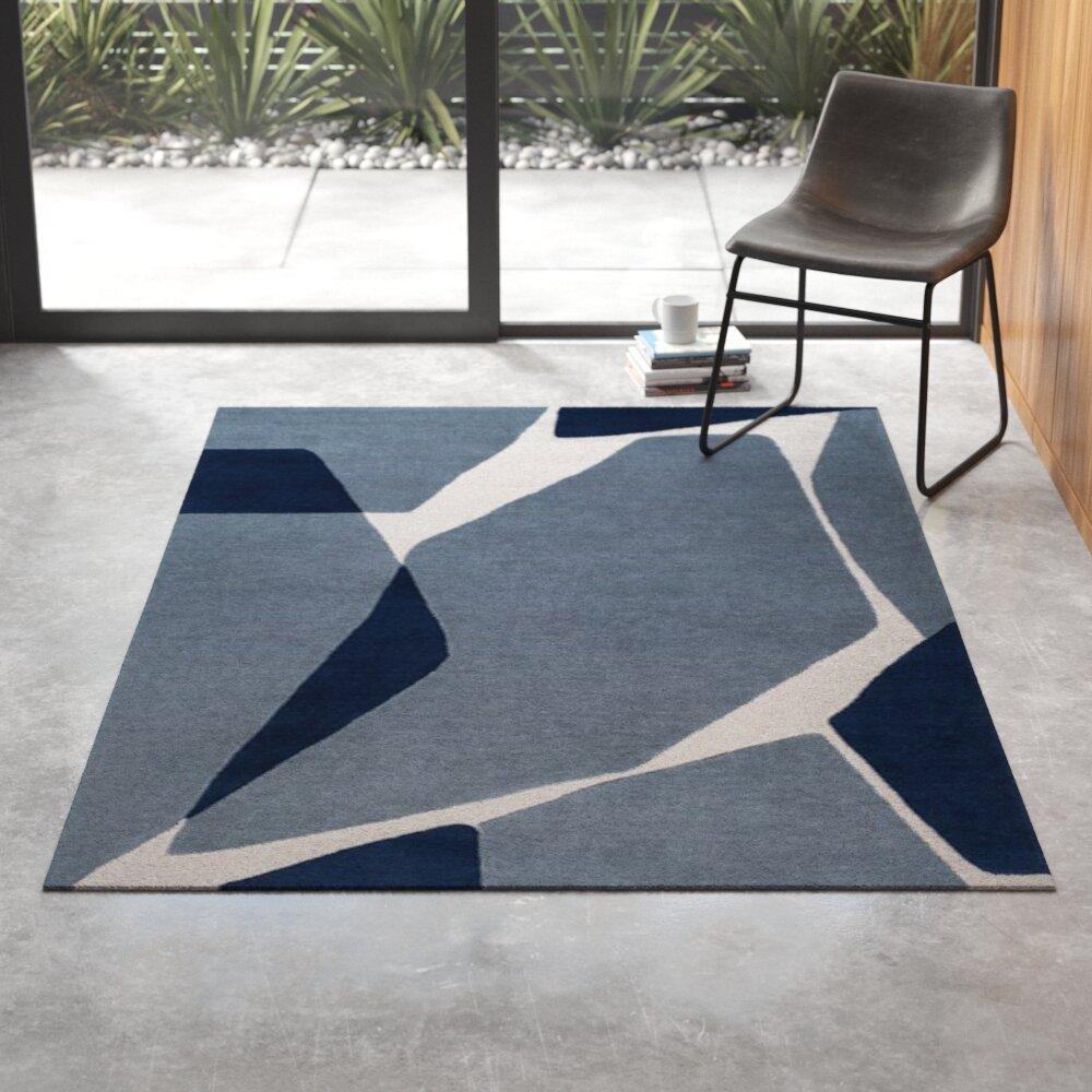 Otis Hand Tufted Wool Blue Gray Area Rug Reviews Allmodern