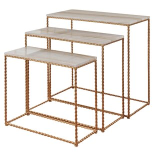 Hocker Nested Petite 3 Piece Console Table Set