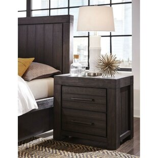 Osorio Wooden 2 Drawer Nightstand by Williston Forge