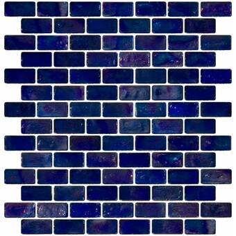 Susanjablon 1 X 3 Glass Subway Tile In Periwinkle Blue Wayfair