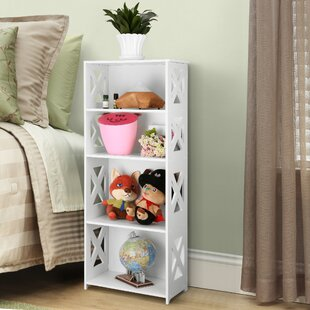 Higgins 4-Tier Modular Side Cross Cut-Out Wood Plastic Composite Standard Bookcase