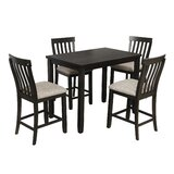 Husson 5 Piece Counter Height Dining Set by Winston Porter