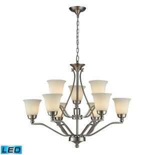 Charlton Home Tompkins 9-Light Shaded Chandelier