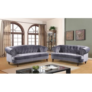 Compare prices Vinci 2 Piece Living Room Set by House of Hampton Reviews (2019) & Buyer's Guide
