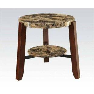 Krystal Wooden End Table