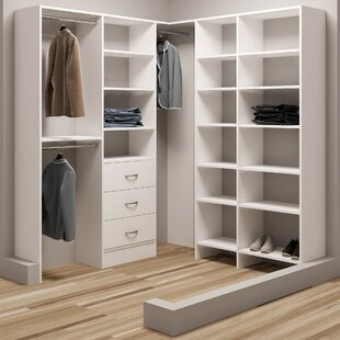 Inexpensive Demure Design 75W - 78.25W Closet System By TidySquares Inc.