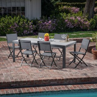 Williston Forge Crum 7 Piece Outdoor Patio Dining Set