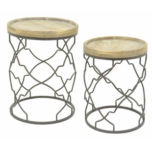 2 Piece End Table Set by Three Hands
