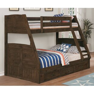 Bargain Baskerville Twin over Full Bunk Bed with Drawer by Harriet Bee Reviews (2019) & Buyer's Guide