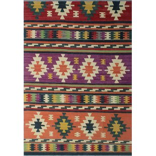 Great Price Rucker Handwoven Wool Purple Area Rug ByWorld Menagerie