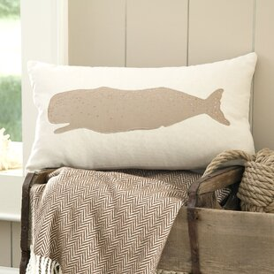 Amesbury Whale Embellished Pillow Cover