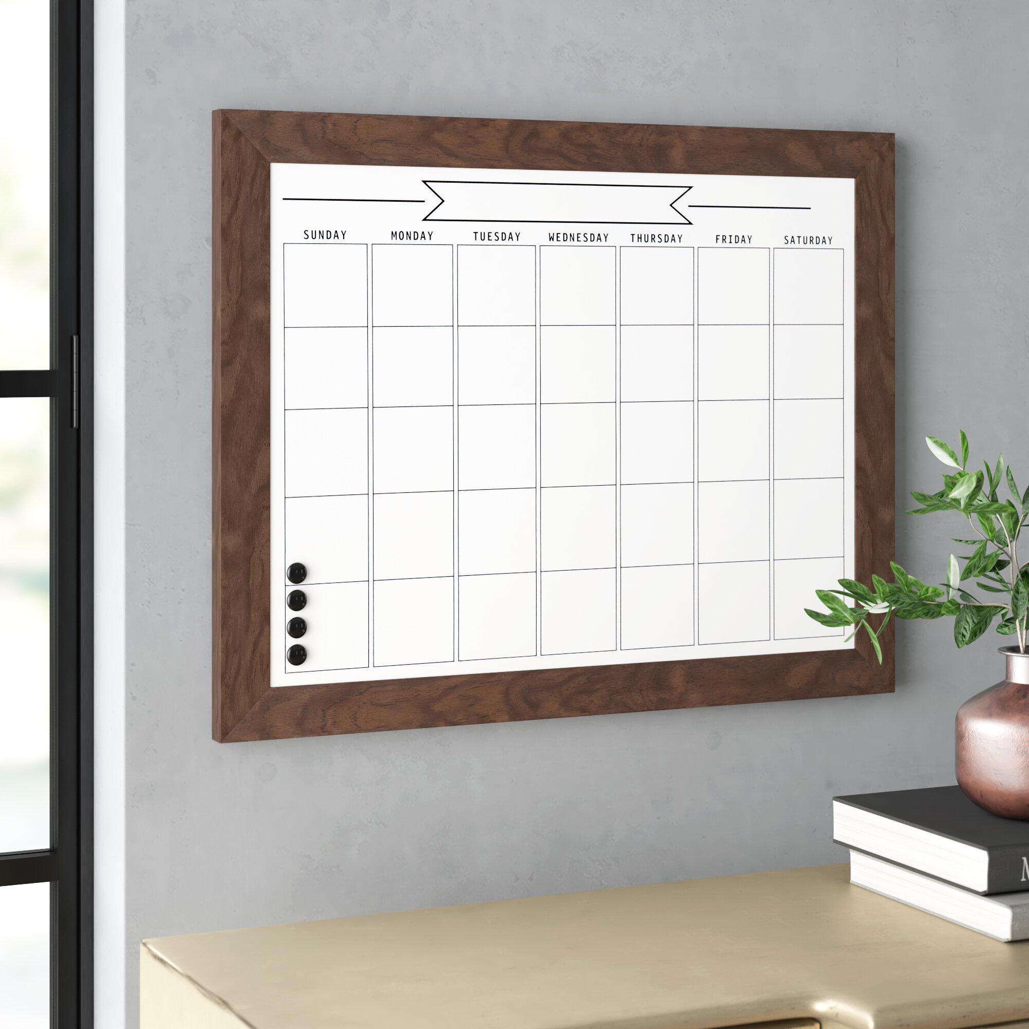 Calendar Dry Erase Memo Boards You Ll Love In 2021 Wayfair