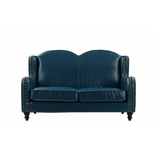 Riney Leather Loveseat