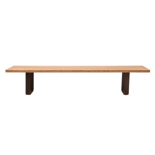 Union Rustic Lafrance Live Edge Solid Wood Bench