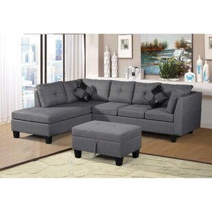 Hafford Left Hand Facing Sectional with Ottoman by Latitude Run