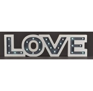 White LED Love Marquee Sign ByNorthlight Seasonal