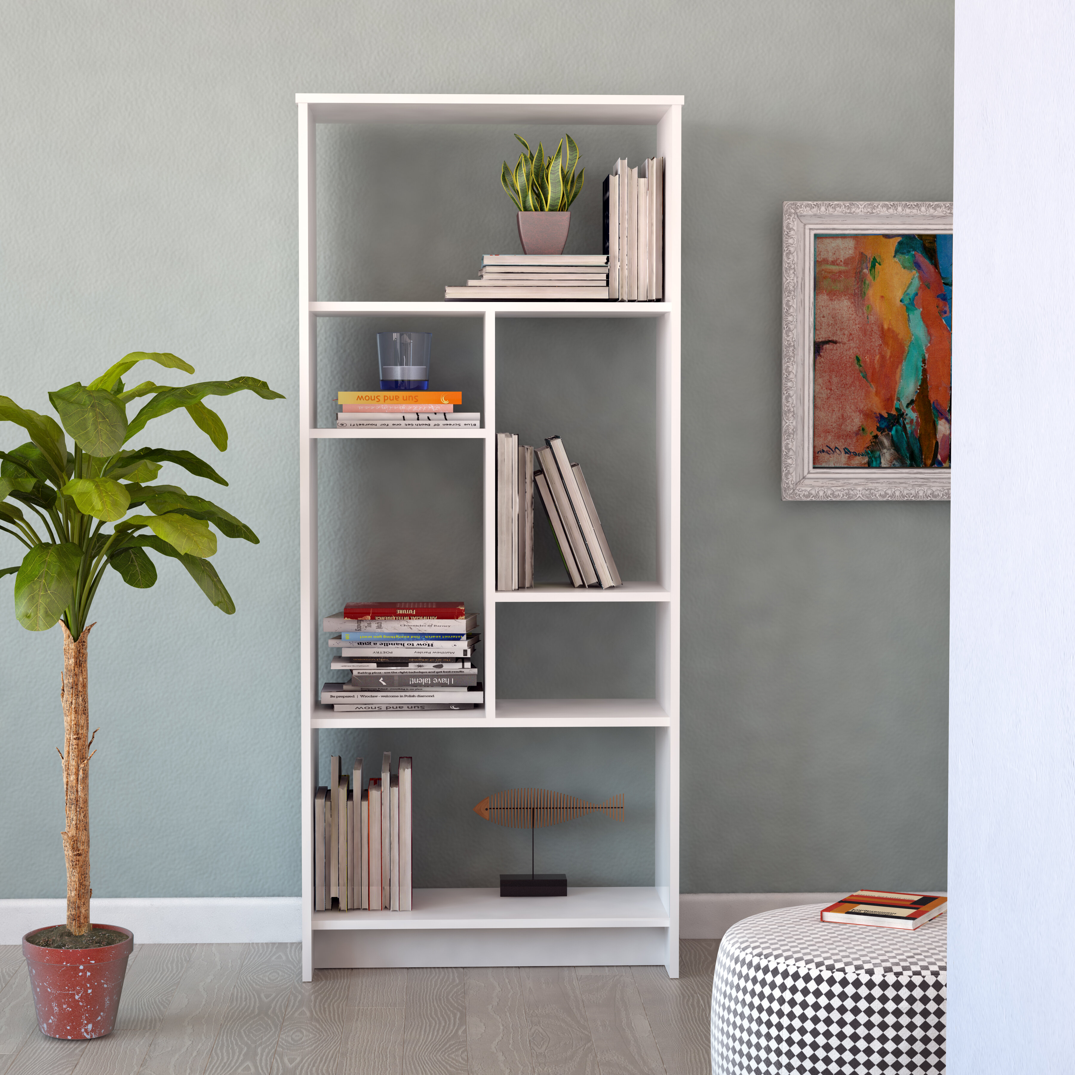 Halley Geometric Bookcase