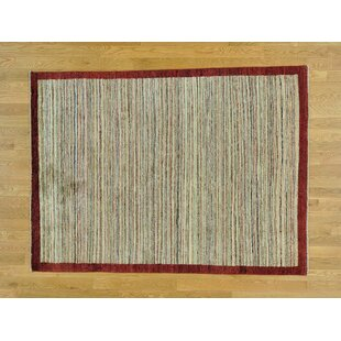 Reviews One-of-a-Kind Becker Striped Hand-Knotted Wool Area Rug By Isabelline