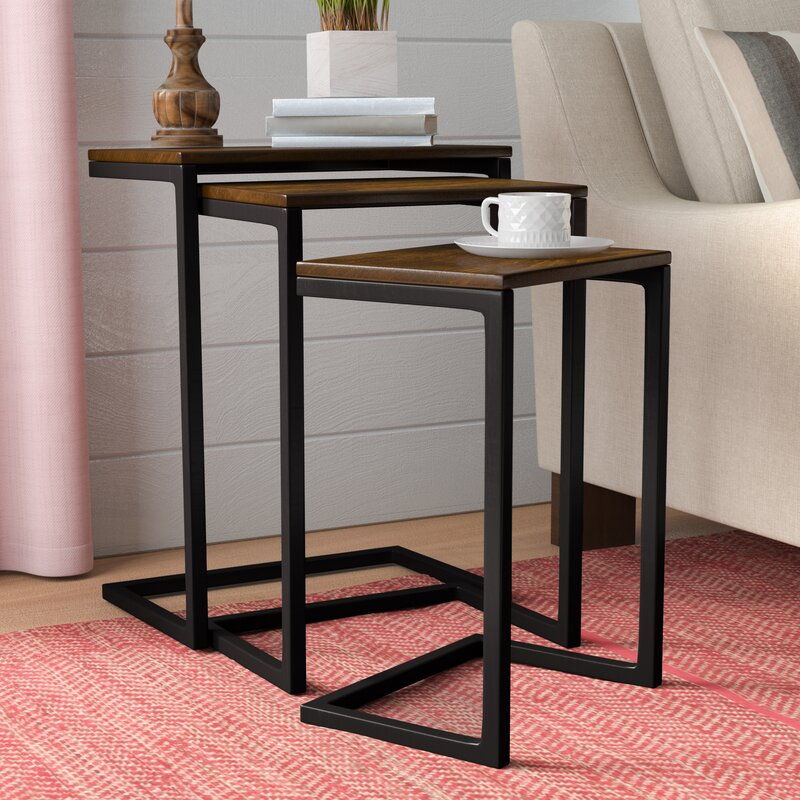 Zenia 3 piece nesting tables reviews allmodern zenia 3 piece nesting tables watchthetrailerfo