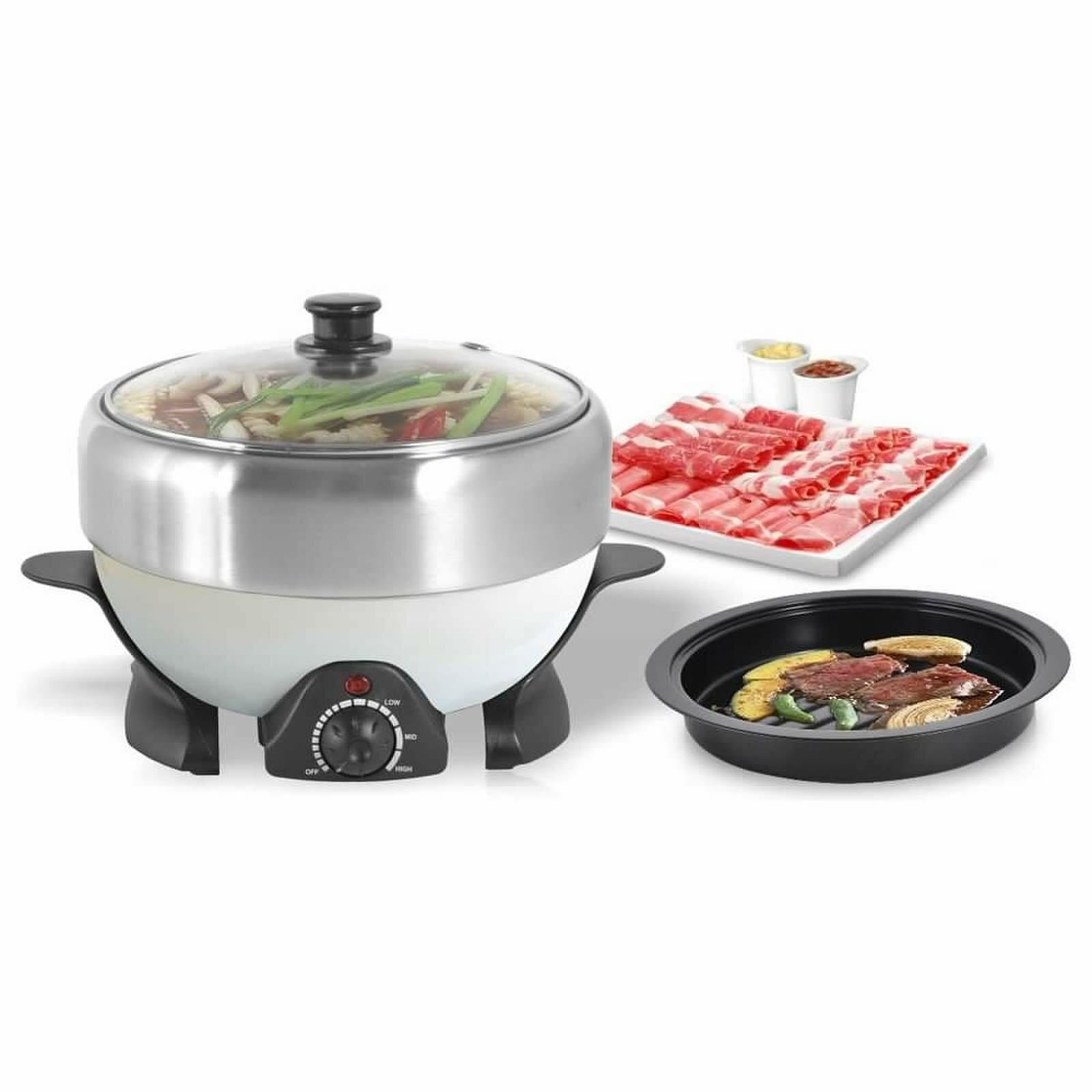 Narita 2 Qt Electric Stainless Steel Stew Cooker Wayfair