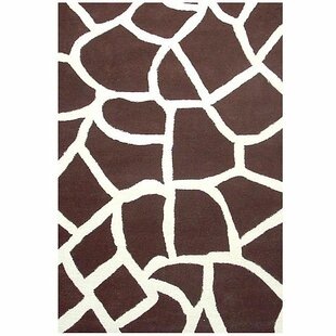 Best Contempo Brown/White Area Rug ByAcura Rugs