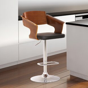 Stcyr Adjustable Height Swivel Bar Stool (Set of 2) by Brayden Studio