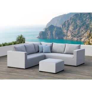 Ego 3 Piece Sunbrella Sectional Set with Cushions by Ove Decors